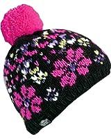 Turtle Fur In Bloom Girl's Hand Knit Fleece Lined Flower Pom Winter Hat
