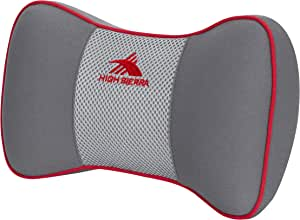 High Sierra HS1426 Car Neck Support/Red \ 100% Pure Memory Foam \ Provides Exceptional Comfort \ Fits Most Vehicles \ Adjustable Strap, Car Neck Support / Red
