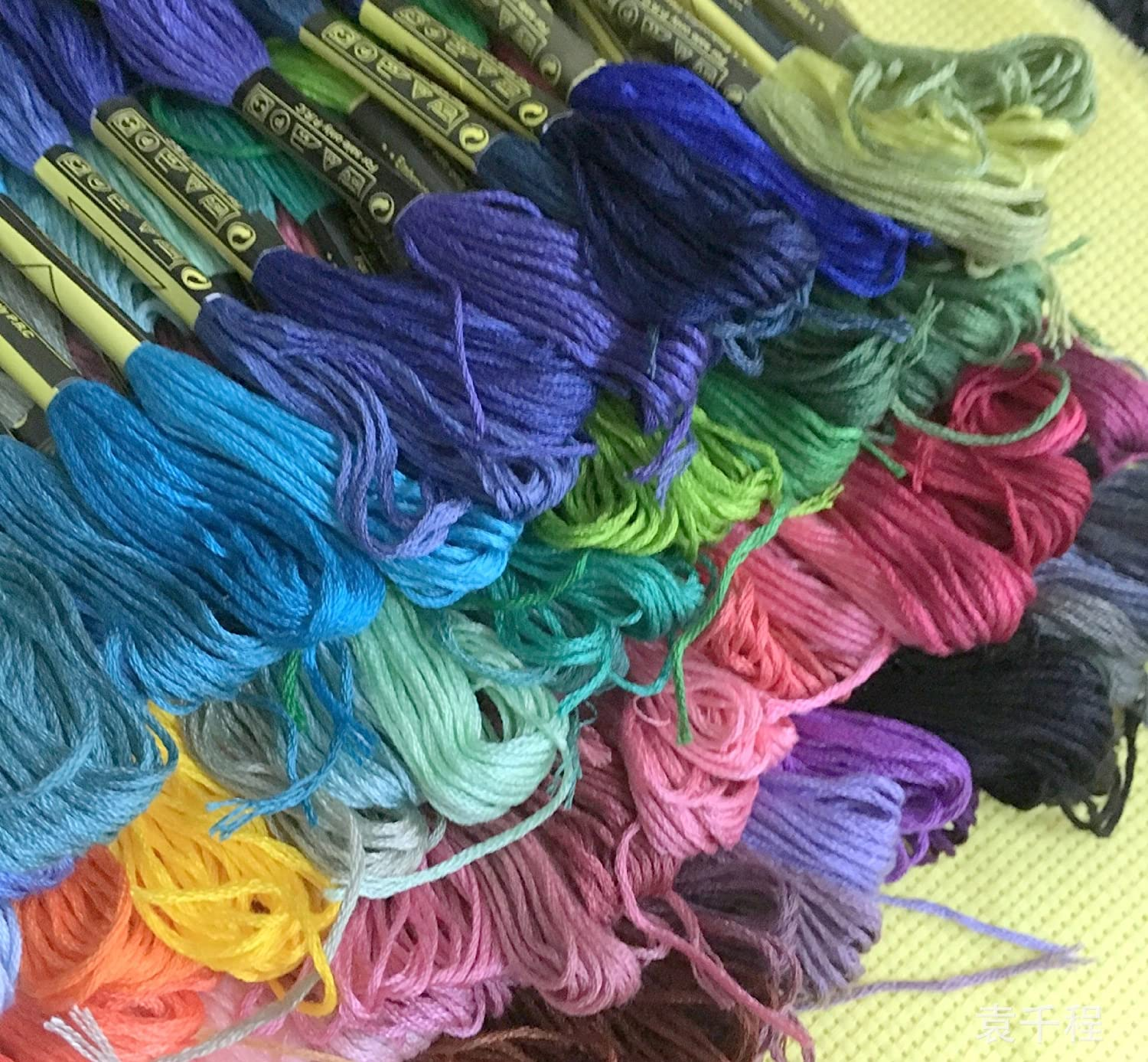 100 Colors Hand Embroidery Floss Cross Stitch Threads skeins Full range of Colors Friendship Bracelets Floss Crafts Floss from ThreadNanny