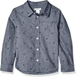 Amazon Essentials Boys Long-Sleeve Woven Poplin Chambray Button-Down Shirts