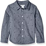 Amazon Essentials Boys Long-Sleeve Woven Poplin Chambray Button-Down Shirts
