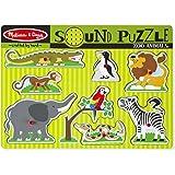 Melissa & Doug - 10727 - Puzzle Sonore - Animaux De Jardin Zoologique