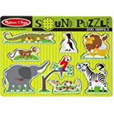 Melissa & Doug Zoo Animals Sound Puzzle - Wooden Peg Puzzle With Sound Effects (8 pcs)