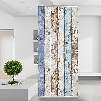 Raumteiler Shabby Holz Wand Stoff Mauer Bild Zimmer Dekoration ...