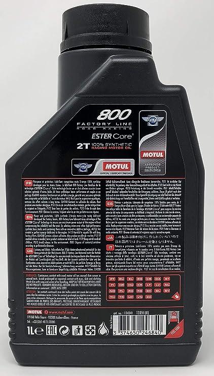 Aceite Motul 800 2t Fl Racing 1l: Amazon.es: Coche y moto