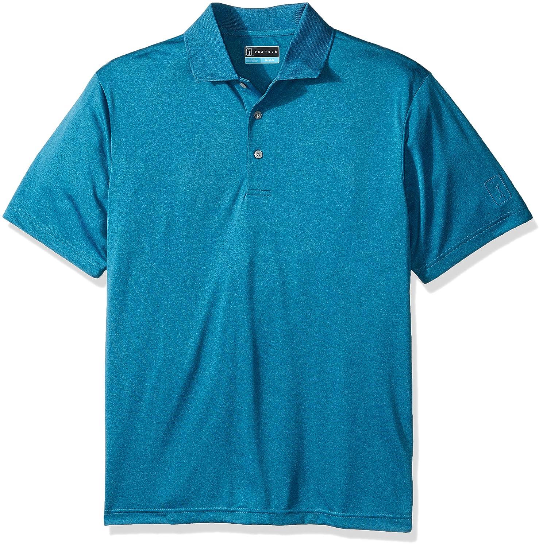PGA TOUR Mens Short Sleeve Heathered Polo Shirt PGA TOUR Men/'s Athletic