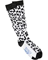 victoria's secret pink leopard glitter print knee high socks One Size