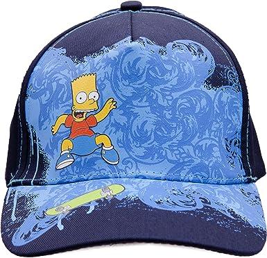 Gorra de Bart Simpson Skate para niños (6-8 Años/Azul/Azul marino ...