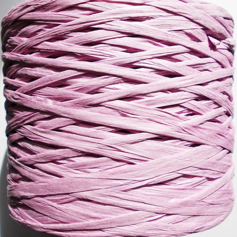 Rib/ón de papel de rafia regalos Ideal para manualidades se despliega a 35 mm muchos colores /álbumes de recortes Lilac decoraci/ón 9 mm de ancho flores 10 m de largo