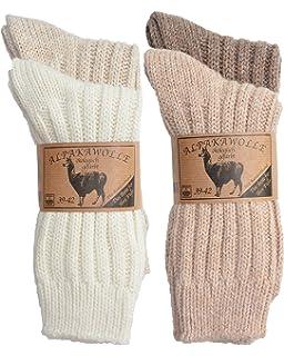 SPITZE SOCKS 4 Par de alpaca de lana calcetines para hombre & mujerEl Original de