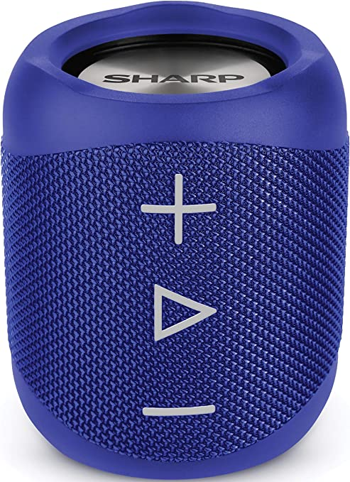 Oferta amazon: Sharp GX-BT180(BL) - Altavoz Bluetooth portátil 14 W estéreo, Bajos Profundos, hasta 10 Horas, Recargable, Impermeable IP56, micrófono para Llamadas, con Voice Assistant, Azul