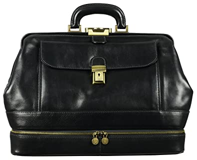 ed7f1fac7899 Amazon.com  Time Resistance Leather Doctor Bag