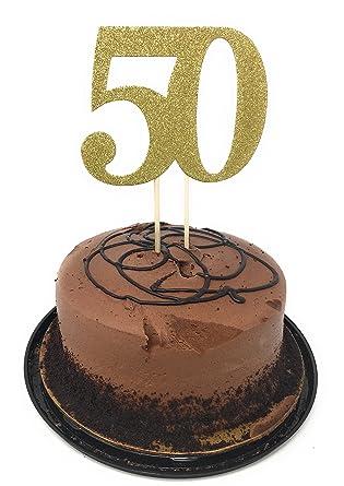Decoración para tarta número 50 para cumpleaños ...