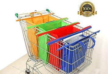 Amazon.com: Reusable Shopping Trolley/Cart Bags By Eezi Shop. Eco ...