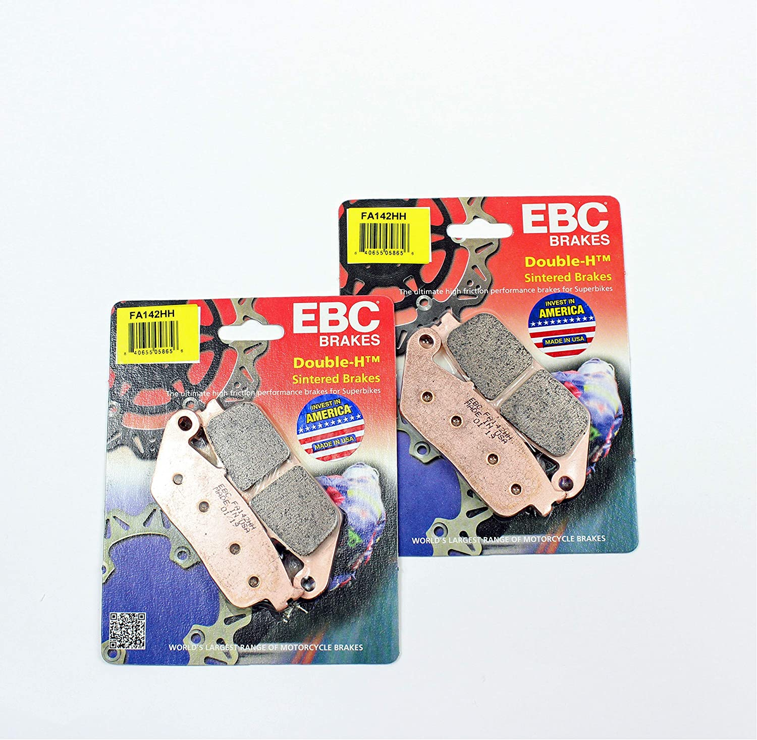 EBC Double-H Sintered Metal Brake Pads FA142HH 2 Packs - Enough for 2 Rotors EBC Brakes