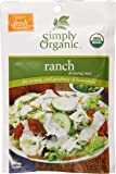 Simply Organic Ranch Salad Dressing, 1-Ounce Packets (Pack of 24)