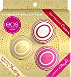 EOS Holiday 2019 Super Soft Shea Lip Balm Kit - Limited Edition (3 Pcs Set: Whipped Vanilla Frosting, Peppermint Cream…