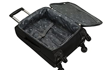 60b27152f Amazon.com | Rockland Gravity 2 Pc Light Weight Luggage Set, Black | Luggage  Sets