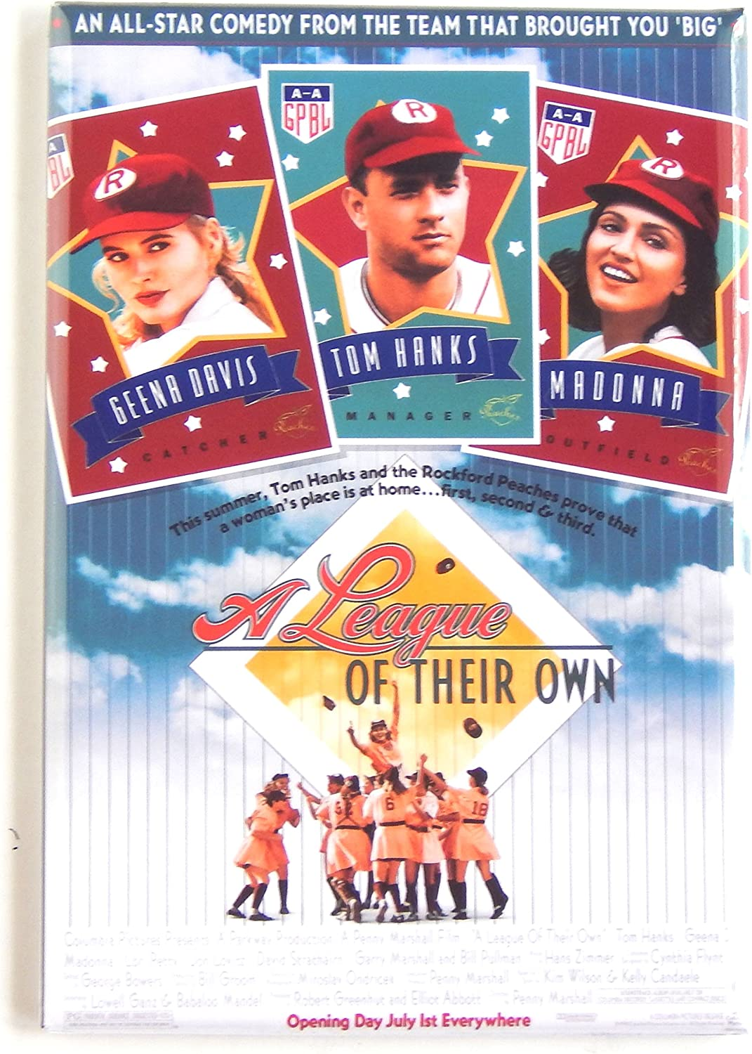 A League of Their Own Movie Poster Fridge Magnet (2 x 3 inches)