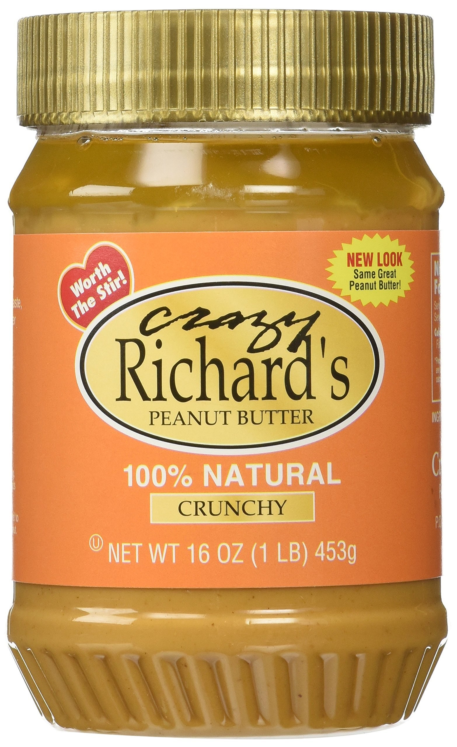 Crazy Richards Natural Chunky Peanut Butter, 16 oz, 6 per Case