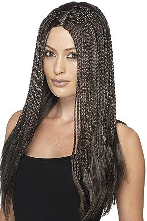 Smiffy s – 90 de la mujer de color marrón trenzado peluca, un tamaño