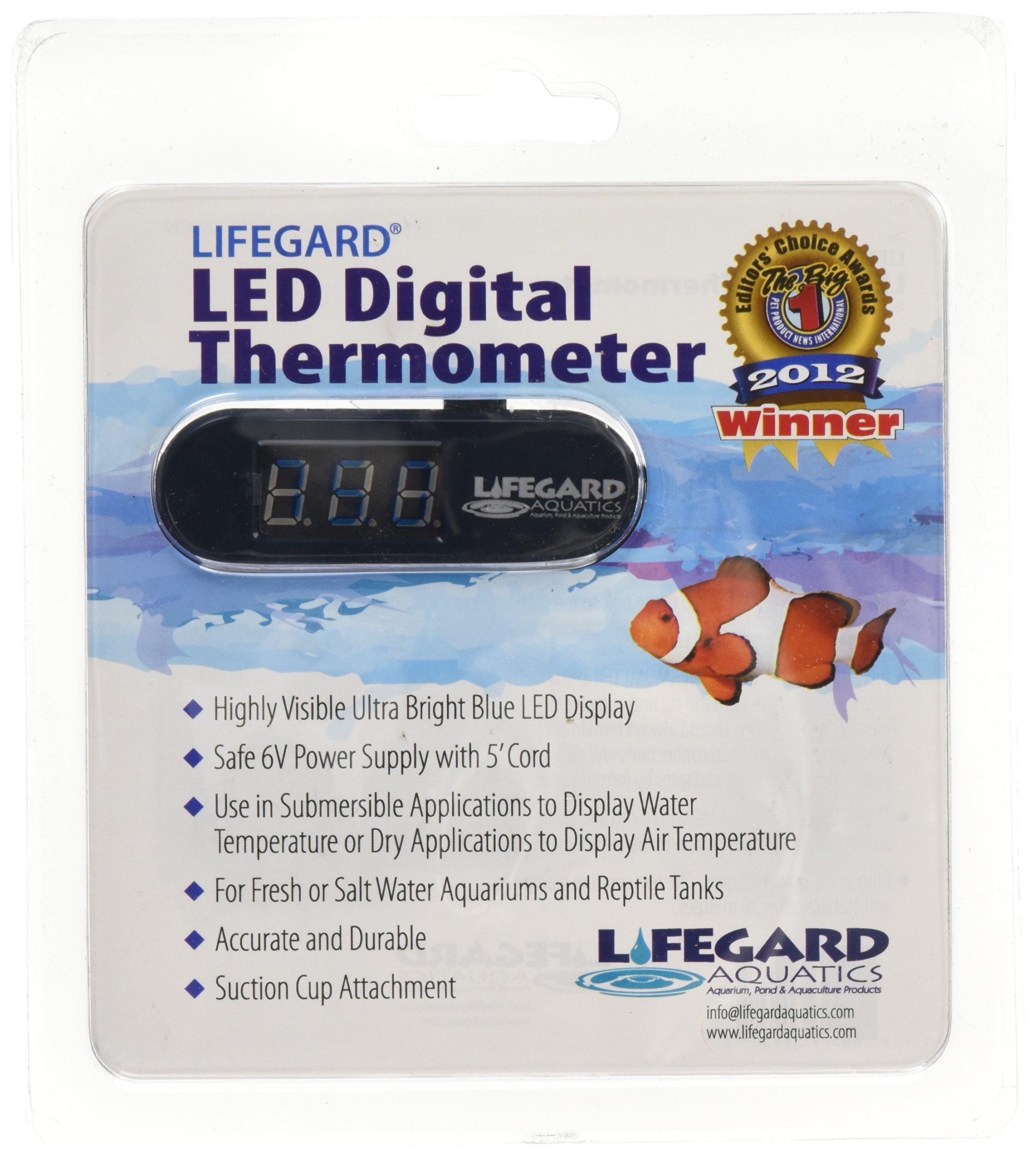 Lifegard Aquatics LED Digital Thermometer for Aquariums by Lifegard Aquatics