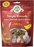 OXBOW Simple Rewards Baked Treats-Apple and Banana, 2-Ounce