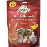 OXBOW 448056 Simple Rewards Baked Treats-Apple and Banana, 2-Ounce