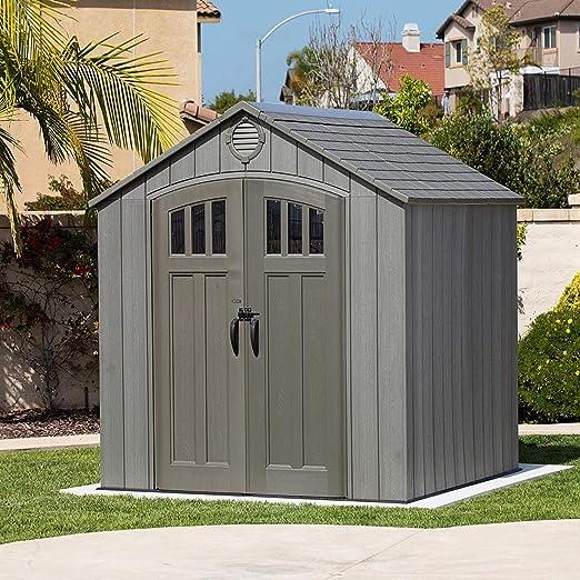 LIFETIME plástico Dispositivo Invernadero Caseta Zeus oscuro//244 x 229 x 244 cm//cobertizo plástico Jardín Casa plástico y caseta: Amazon.es: Jardín