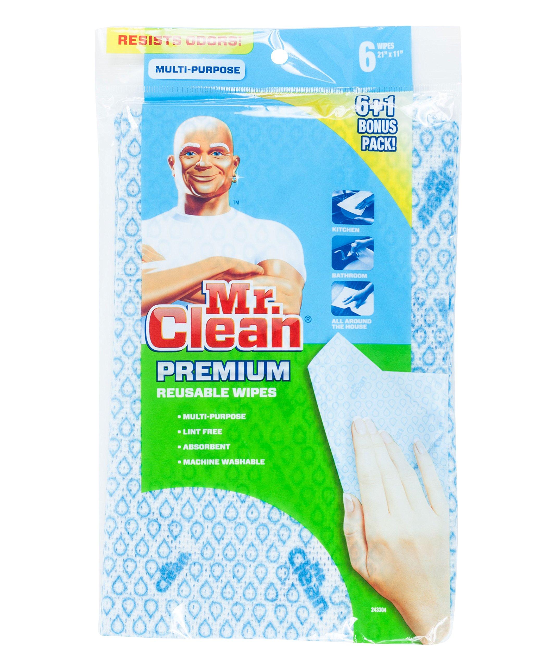 Mr. Clean Premium Reusable Wipes, Set of 7, 48-pack
