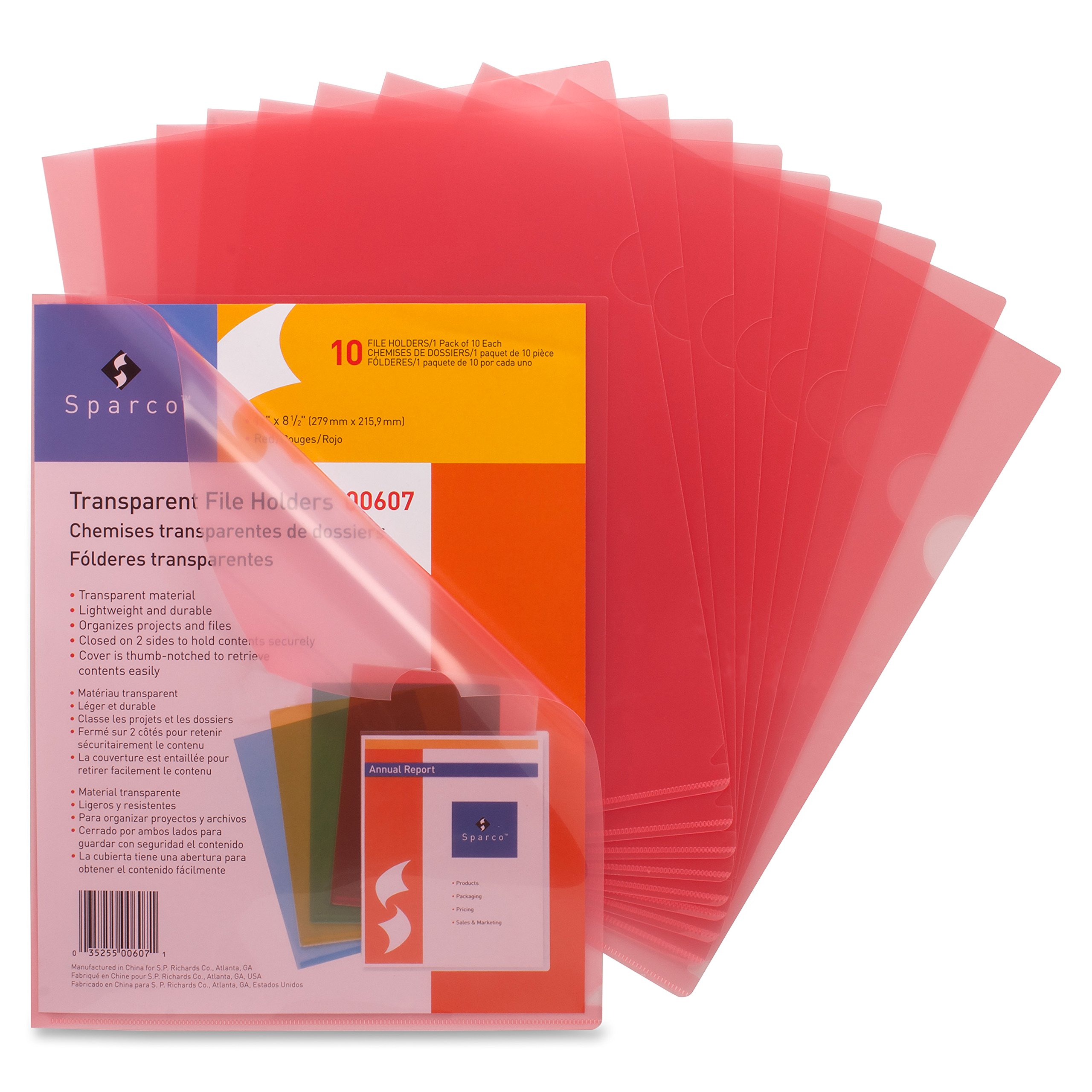 Business Source File Sleeve, Red (00607BX)