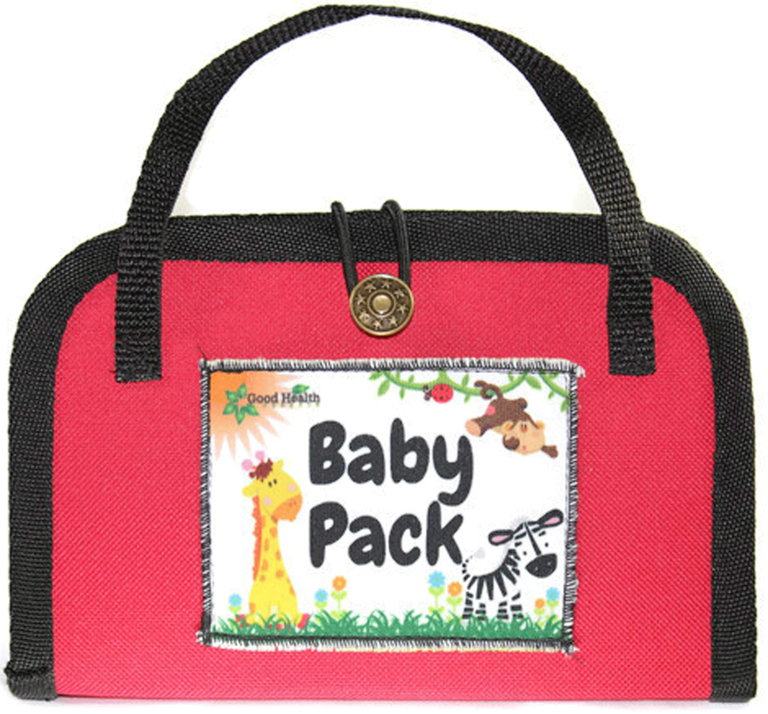 Baby Pack - Healthy Baby Kit with Ear Oil, Teething Oil - Calming, Child Anti-Bio, Breath Easy Tinctures - by Good Health Herbals (Red) by Good Health Herbals