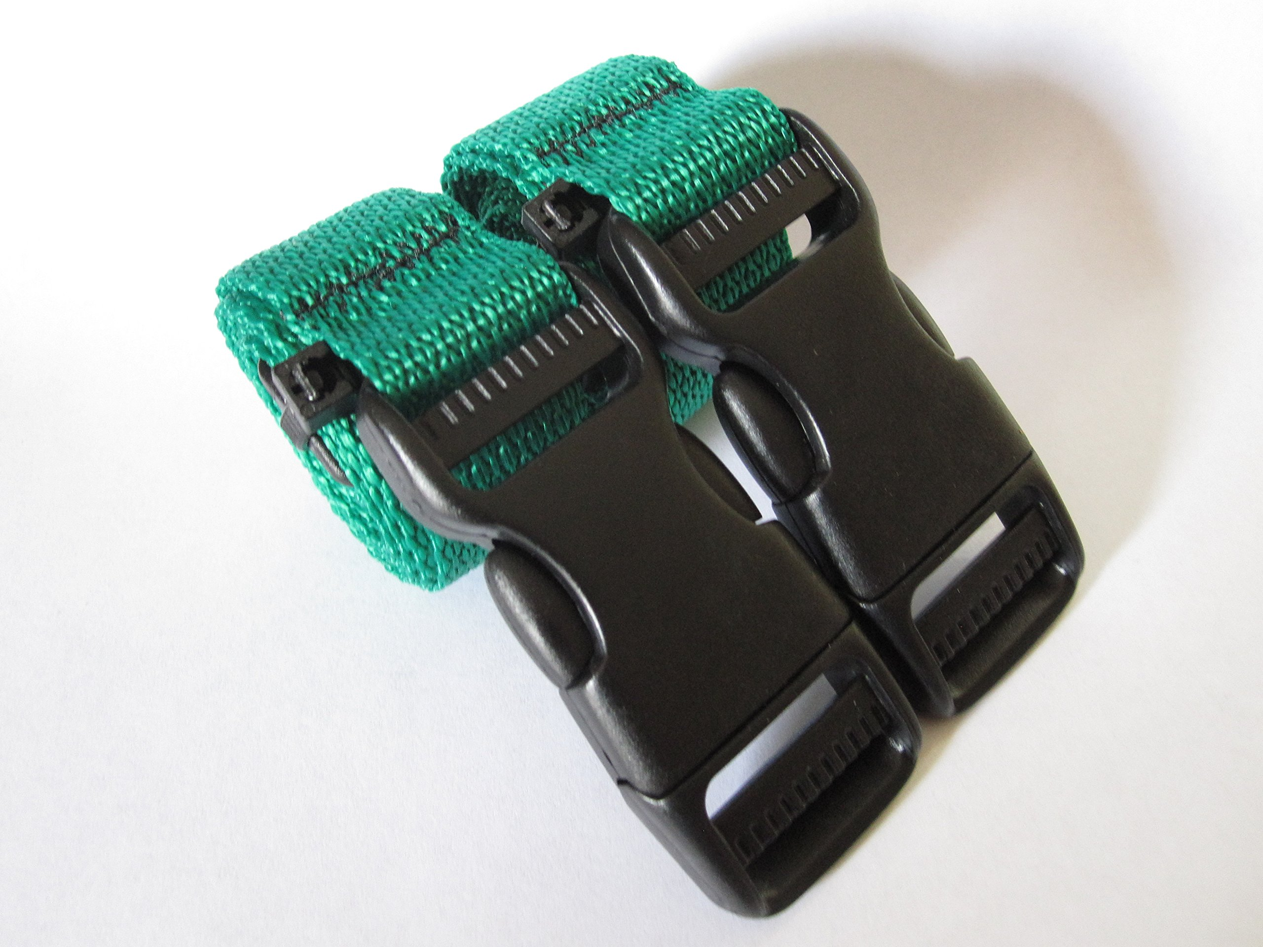 Molle Backpack Accessory Straps - Quick Release Buckle (Green)