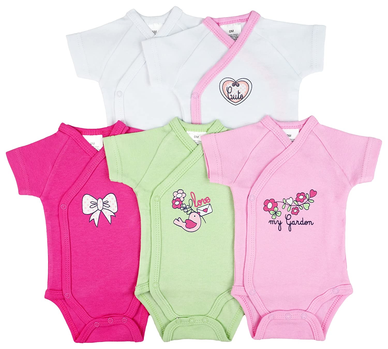 Lot de 5 - Body - Bodies - naissance manches courtes série Garden T. 0 - 3 mois