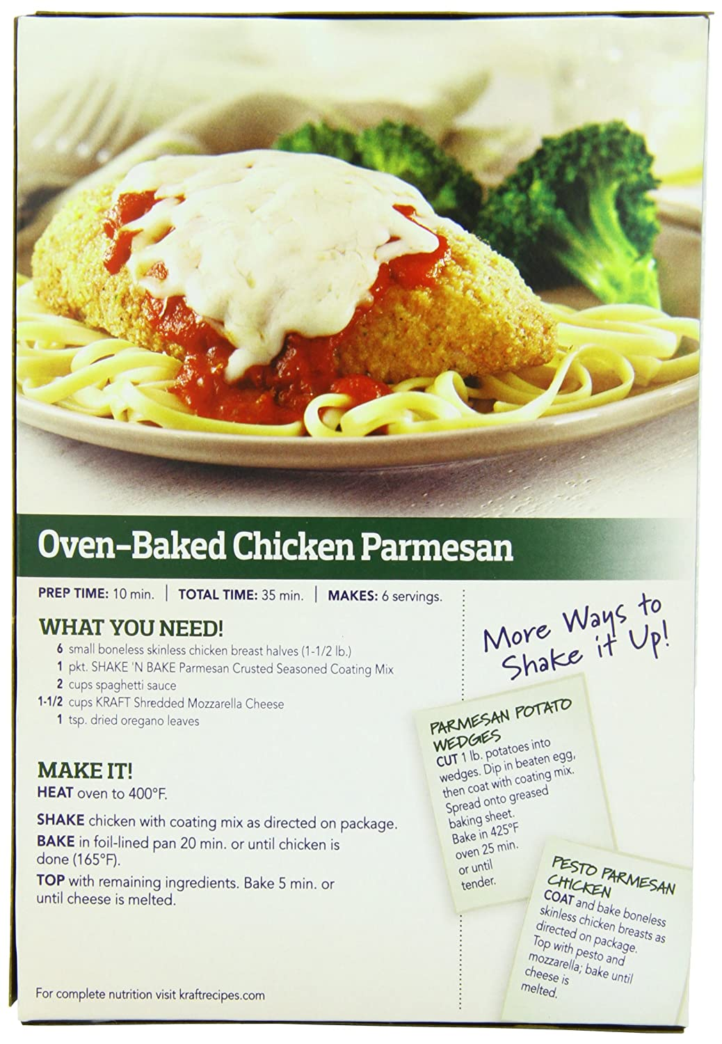 Amazon : Shake N Bake Parmesan Crusted Coating Mix, 475 Ounce  8 Per  Case : Flour And Meals : Grocery & Gourmet Food