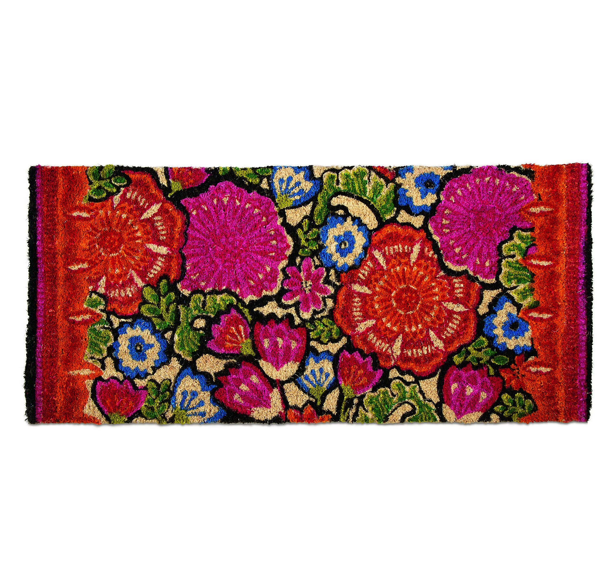 tag - Talavera Estate Coir Mat, Decorative All-Season Mat for the Front Porch, Patio or Entryway, Multi by tag