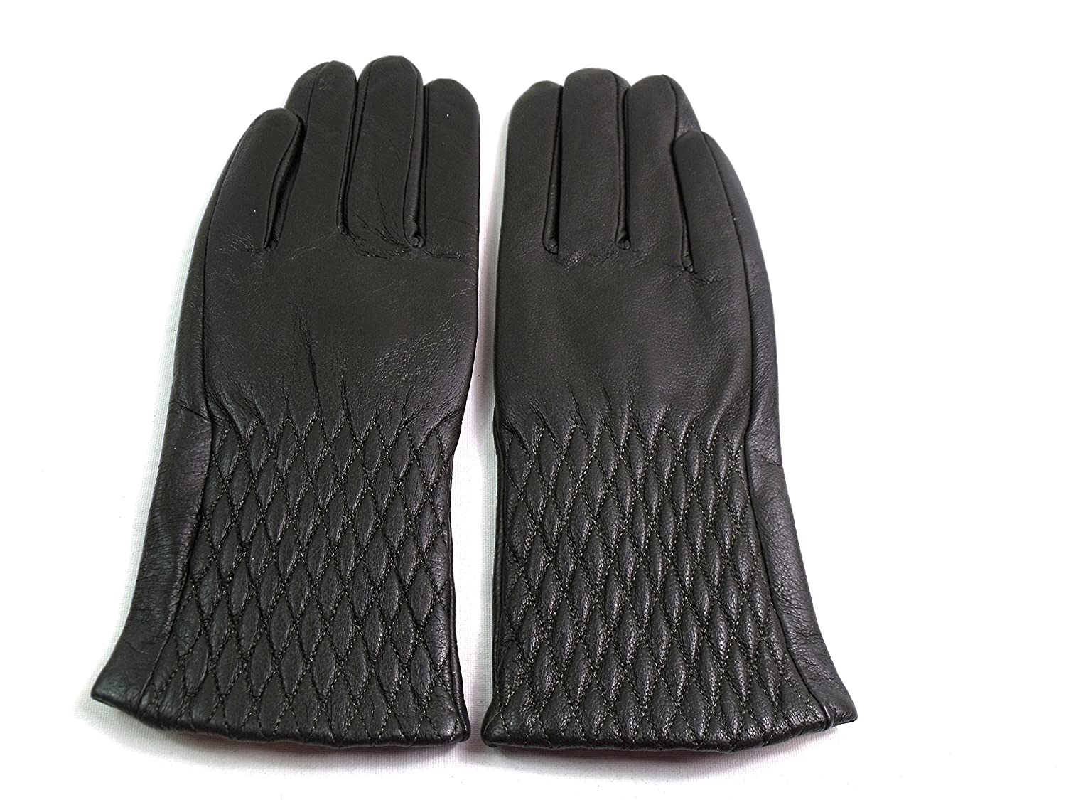 The Leather Emporium Women's Lined Gloves Diamond Detail