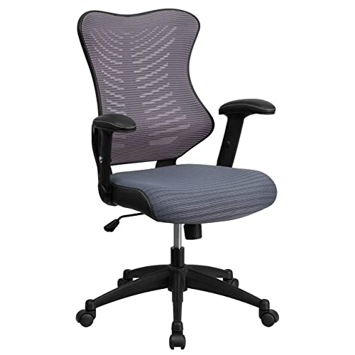 adjustable arm desk chair staples flash furniture high back designer gray mesh executive swivel chair with adjustable arms office arms amazoncom