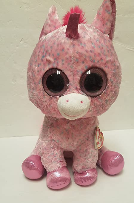 053dae4b7d1 Image Unavailable. Image not available for. Color  Ty Beanie Boos Rosey - Unicorn  Large (Justice Exclusive)