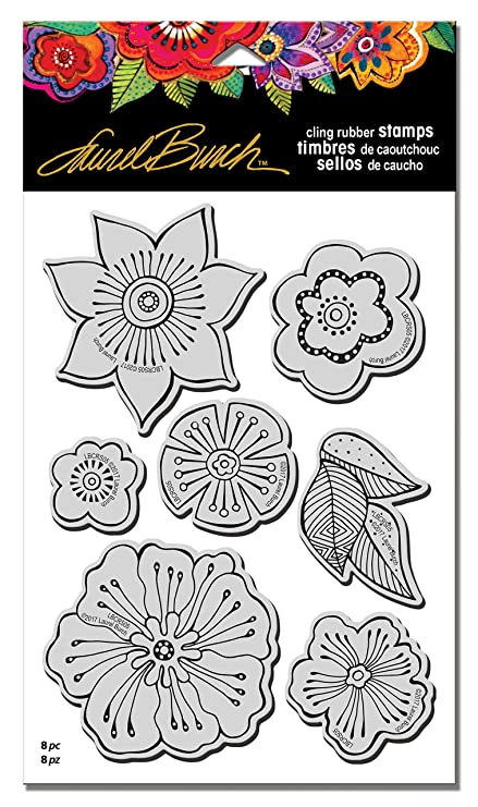 amazon com stampendous lbcrs05 laurel burch rubber stamp set
