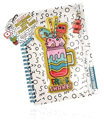 NPW-USA Vibe Squad Super Squishy Notebook with Pencil Case