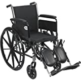 Drive Medical Cruiser III Light Weight Wheelchair with Various Flip Back Arm Styles and Front Rigging Options, Flip Back…