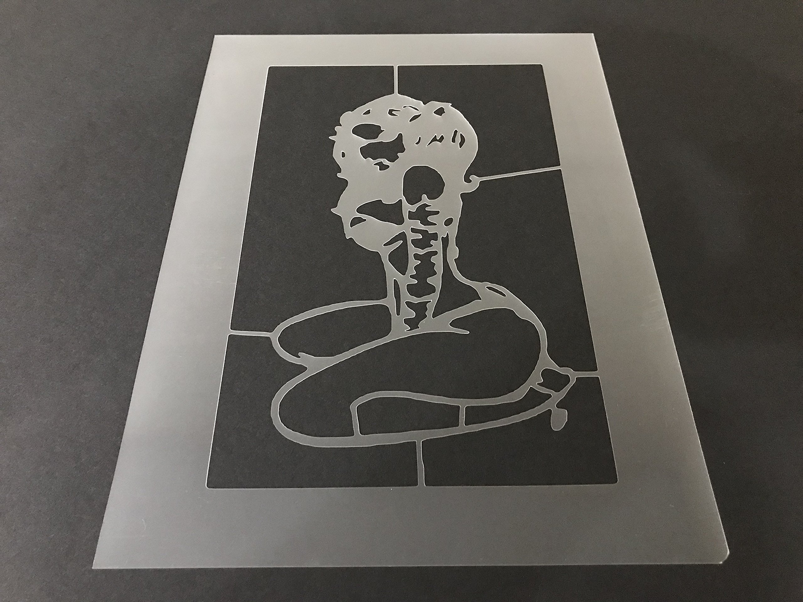 Pin Up Girl Stencil #1 Reusable 10 mil Thick 7in x 9in sheet