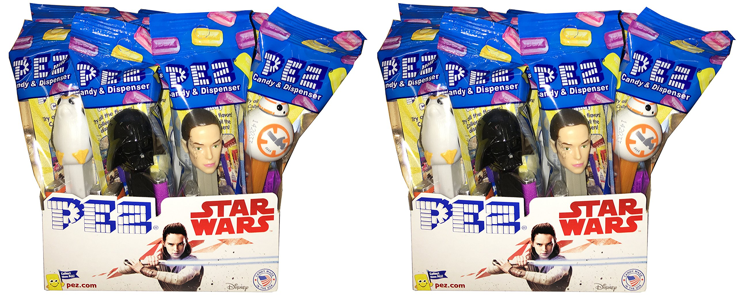 Star Wars PEZ Candy Dispensers - Pack of 24