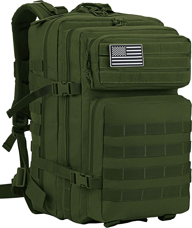 Luckin Packin Tactical Backpack,Military Backpack,Molle Bag Rucksack Pack,45 Liter Large