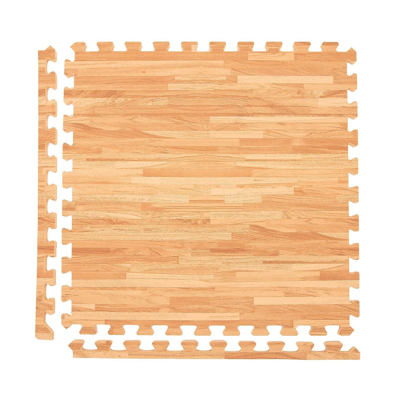 Incstores – プレミアムソフト木製酷使フォームタイル(2 ' x2 ') – 優れたfor trade showフローリング、Exhibitフローリング、表示フローリング、規則、リビング領域、再生部屋、ヨガ、ピラティス、およびその他のライトAerobic/Cardio練習 25 Tiles w/ Wheeled Soft Case Textured Maple B01AYBTCJY