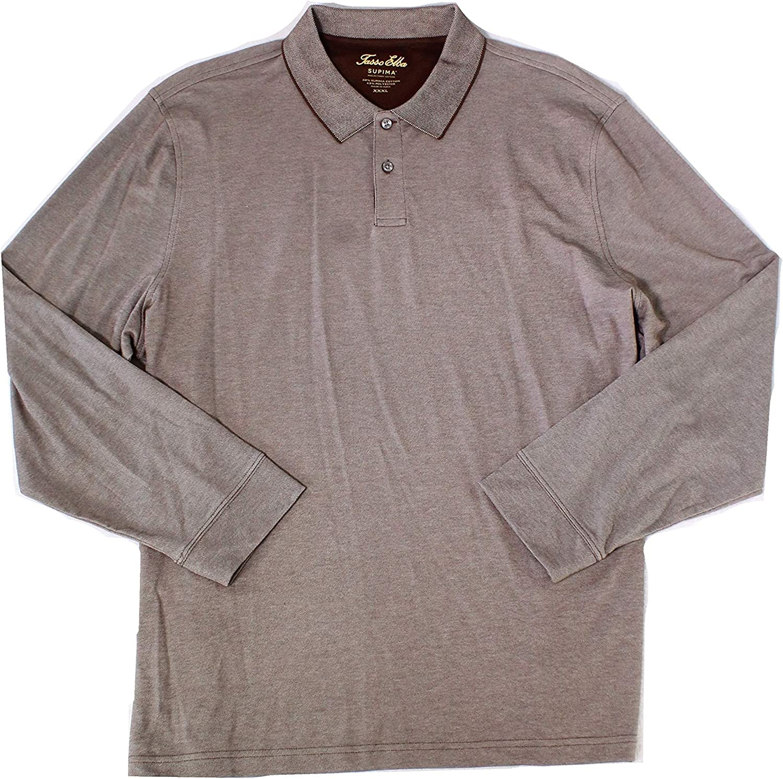Tasso Elba Over item handling ☆ Navy Mens Long Rugby Polo Popular Shirt Sleeve