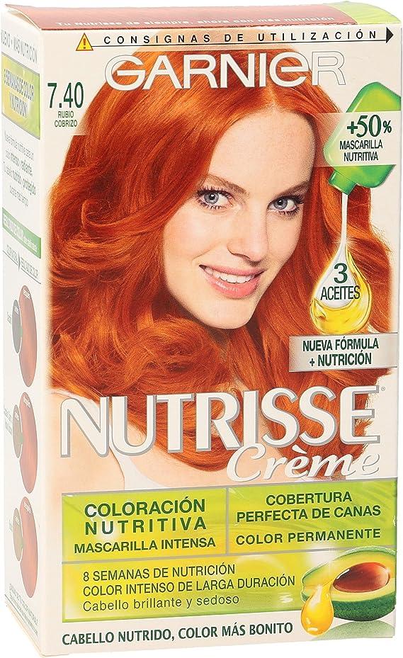 Garnier Coloración nutrisse nº7.40 rubio cobrizo