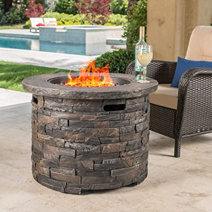 Christopher Knight Home Stonecrest Patio Furniture ~ Outdoor Propane (Gas) Fire  Pit 40,000BTU