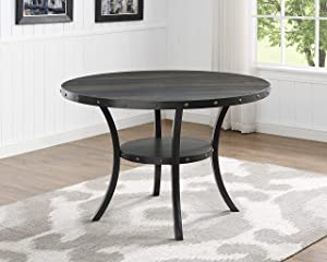 Roundhill Furniture Biony Collection Counter Height Dining Table,